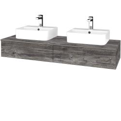 Dřevojas - Koupelnová skříňka MODULE SZZ2 140 - D10 Borovice Jackson / D10 Borovice Jackson (302658)