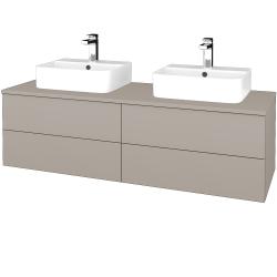 Dřevojas - Koupelnová skříňka MODULE SZZ4 140 - N07 Stone / N07 Stone (303693)