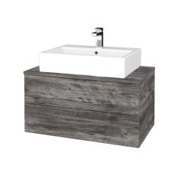 Dřevojas - Koupelnová skříňka MODULE SZZ2 80 - D10 Borovice Jackson / D10 Borovice Jackson (312046)