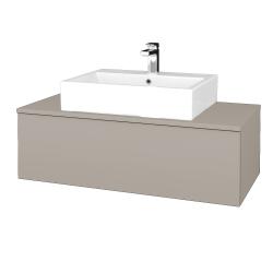 Dřevojas - Koupelnová skříňka MODULE SZZ1 100 - N07 Stone / N07 Stone (313098)