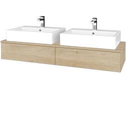 Dřevojas - Koupelnová skříňka MODULE SZZ2 140 - D15 Nebraska / D15 Nebraska (316754)