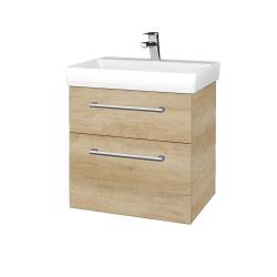 Dřevojas - Koupelnová skříň PROJECT SZZ2 60 - D15 Nebraska / Úchytka T03 / D15 Nebraska (322472C)