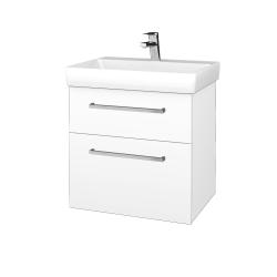 Dřevojas - Koupelnová skříň PROJECT SZZ2 60 - M01 Bílá mat / Úchytka T04 / M01 Bílá mat (322502E)