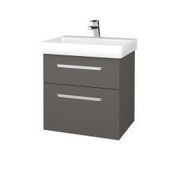 Dřevojas - Koupelnová skříň PROJECT SZZ2 60 - N06 Lava / Úchytka T01 / N06 Lava (322564A)