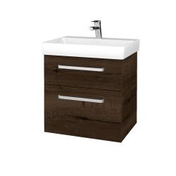 Dřevojas - Koupelnová skříň PROJECT SZZ2 60 - D21 Tobacco / Úchytka T01 / D21 Tobacco (322823A)