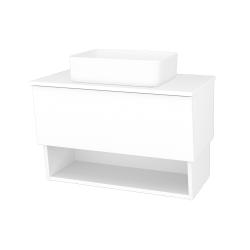 Dřevojas - Koupelnová skříň INVENCE SZZO 80 (umyvadlo Joy) - L01 Bílá vysoký lesk / L01 Bílá vysoký lesk (326289)