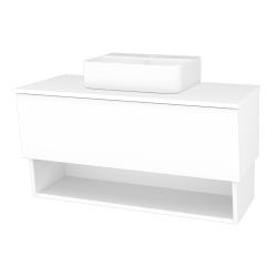 Dřevojas - Koupelnová skříň INVENCE SZZO 100 (umyvadlo Joy 3) - L01 Bílá vysoký lesk / L01 Bílá vysoký lesk (326555)