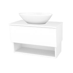 Dřevojas - Koupelnová skříň INVENCE SZZO 80 (umyvadlo Triumph) - L01 Bílá vysoký lesk / L01 Bílá vysoký lesk (326647)