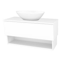 Dřevojas - Koupelnová skříň INVENCE SZZO 100 (umyvadlo Triumph) - L01 Bílá vysoký lesk / L01 Bílá vysoký lesk (326678)