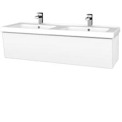 Dřevojas - Koupelnová skříň INVENCE SZZ 125 (dvojumyvadlo Harmonia) - L01 Bílá vysoký lesk / L01 Bílá vysoký lesk (326821)