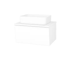 Dřevojas - Koupelnová skříň INVENCE SZZ 65 (umyvadlo Joy) - L01 Bílá vysoký lesk / L01 Bílá vysoký lesk (326852)