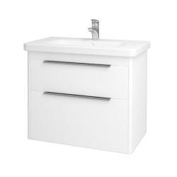Dřevojas - Koupelnová skříň ENZO SZZ2 80 - L01 Bílá vysoký lesk / L01 Bílá vysoký lesk (52457)