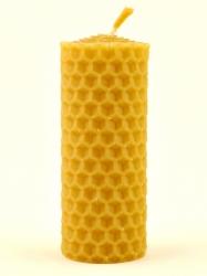 Svíčka válec malý z vosku-005 (VOSK-0005) - KOUPELNYMOST