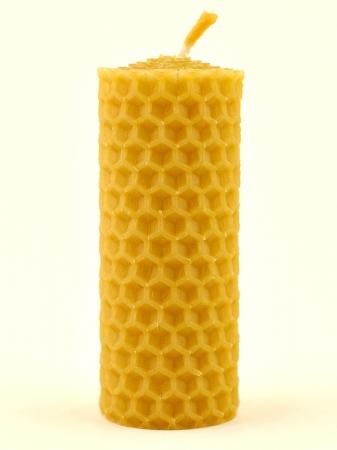 KOUPELNYMOST - Svíčka válec malý z vosku-005 (VOSK-0005)
