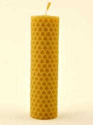 Svíčka válec střední z vosku-004 (VOSK-0004) - KOUPELNYMOST