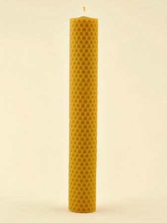 KOUPELNYMOST - Svíčka válec velký z vosku-001 (VOSK-0001)