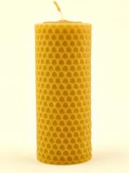 Svíčka válec široký malý z vosku-003 (VOSK-0003) - KOUPELNYMOST