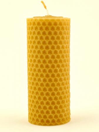 KOUPELNYMOST - Svíčka válec široký malý z vosku-003 (VOSK-0003)