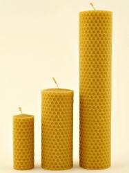 KOUPELNYMOST - Svíčka válec široký malý z vosku-003 (VOSK-0003), fotografie 16/8