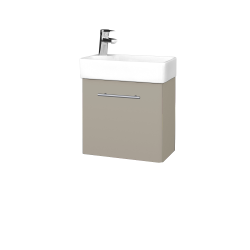Dřevojas - Koupelnová skříň DOOR SZD 44 - L04 Béžová vysoký lesk / Úchytka T02 / L04 Béžová vysoký lesk / Levé (151669B)