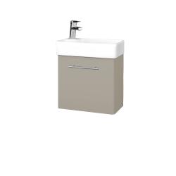 Dřevojas - Koupelnová skříň DOOR SZD 44 - L04 Béžová vysoký lesk / Úchytka T02 / L04 Béžová vysoký lesk / Pravé (151669BP)