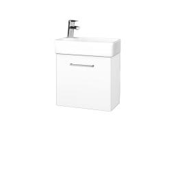 Dřevojas - Koupelnová skříň DOOR SZD 44 - N01 Bílá lesk / Úchytka T04 / L01 Bílá vysoký lesk / Levé (21903E)