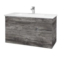 Dřevojas - Koupelnová skříň GIO SZZ2 100 - D10 Borovice Jackson / Úchytka T02 / D10 Borovice Jackson (129828B)