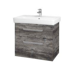 Dřevojas - Koupelnová skříň Q MAX SZZ2 70 - D10 Borovice Jackson / Úchytka T01 / D10 Borovice Jackson (149093A)