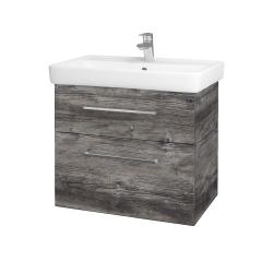Dřevojas - Koupelnová skříň Q MAX SZZ2 70 - D10 Borovice Jackson / Úchytka T04 / D10 Borovice Jackson (149093E)