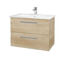 Dřevojas - Koupelnová skříň GIO SZZ2 80 - D15 Nebraska / Úchytka T01 / D15 Nebraska (173746A)