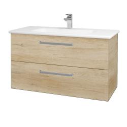 Dřevojas - Koupelnová skříň GIO SZZ2 100 - D15 Nebraska / Úchytka T01 / D15 Nebraska (173760A)