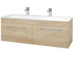 Dřevojas - Koupelnová skříň ASTON SZZ2 120 - D15 Nebraska / Úchytka T03 / D15 Nebraska (174002CU)