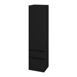 Dřevojas - Skříň vysoká MAJESTY SVDZ2 35 - M03 Černá mat / M03 Černá mat / Pravé (175931P)