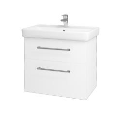 Dřevojas - Koupelnová skříň Q MAX SZZ2 70 - M01 Bílá mat / Úchytka T03 / M01 Bílá mat (198374C)