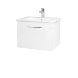 Dřevojas - Koupelnová skříň ASTON SZZ 60 - M01 Bílá mat / Úchytka T05 / M01 Bílá mat (199159F)