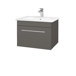 Dřevojas - Koupelnová skříň ASTON SZZ 60 - N06 Lava / Úchytka T02 / N06 Lava (199265B)