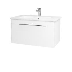 Dřevojas - Koupelnová skříň ASTON SZZ 80 - M01 Bílá mat / Úchytka T05 / M01 Bílá mat (199319F)