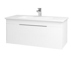 Dřevojas - Koupelnová skříň ASTON SZZ 100 - M01 Bílá mat / Úchytka T05 / M01 Bílá mat (199920F)