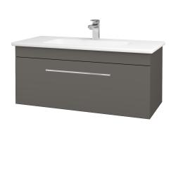 Dřevojas - Koupelnová skříň ASTON SZZ 100 - N06 Lava / Úchytka T04 / N06 Lava (200039E)