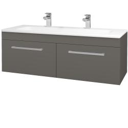 Dřevojas - Koupelnová skříň ASTON SZZ2 120 - N06 Lava / Úchytka T03 / N06 Lava (200350CU)