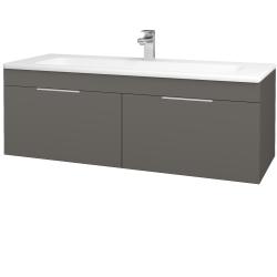 Dřevojas - Koupelnová skříň ASTON SZZ2 120 - N06 Lava / Úchytka T05 / N06 Lava (200350F)