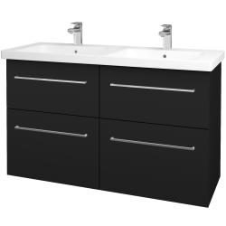 Dřevojas - Koupelnová skříň BIG INN SZZ4 125 - N08 Cosmo / Úchytka T04 / N08 Cosmo (201036E)