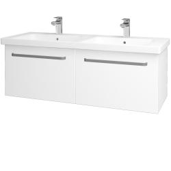 Dřevojas - Koupelnová skříň BIG INN SZZ2 125 - M01 Bílá mat / Úchytka T01 / M01 Bílá mat (201562A)