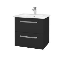 Dřevojas - Koupelnová skříň GIO SZZ2 60 - N03 Graphite / Úchytka T01 / N03 Graphite (202101A)