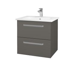 Dřevojas - Koupelnová skříň GIO SZZ2 60 - N06 Lava / Úchytka T01 / N06 Lava (202118A)