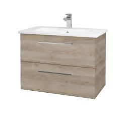 Dřevojas - Koupelnová skříň GIO SZZ2 80 - D17 Colorado / Úchytka T04 / D17 Colorado (202156E)