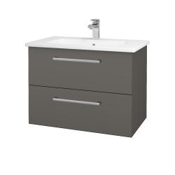 Dřevojas - Koupelnová skříň GIO SZZ2 80 - N06 Lava / Úchytka T03 / N06 Lava (202279C)