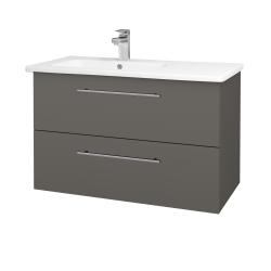 Dřevojas - Koupelnová skříň GIO SZZ2 90 - N06 Lava / Úchytka T02 / N06 Lava (202729B)
