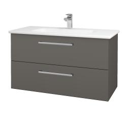 Dřevojas - Koupelnová skříň GIO SZZ2 100 - N06 Lava / Úchytka T03 / N06 Lava (202880C)