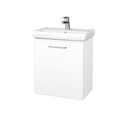 Dřevojas - Koupelnová skříň DOOR SZD 55 - M01 Bílá mat / Úchytka T04 / M01 Bílá mat / Levé (205126E)